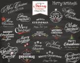 Digital Chalkboard Merry Christmas Clip Art Christmas Wording New Year 0360
