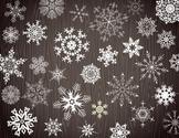 Digital Chalkboard Snowflake Clip Art Christmas Snowflake ClipArt 0367