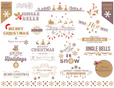 Digital Christmas Border Frame Clip Art Gold Silver Christmas Scrapbook 0361