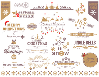 Digital Christmas Border Frame Clip Art Gold Silver Christ