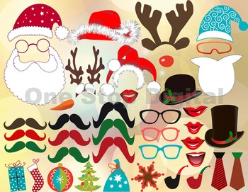 Instant Download Christmas Photo Booth Props Christmas Party DIY 0158