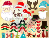Instant Download Christmas Photo Booth Props Christmas Par