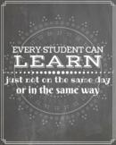 Instant Download- Classroom Poster-Positive Encouragement-
