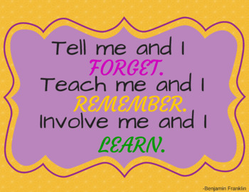 Instant Download-Classroom Poster-You Print-Benjamin Franklin Quote