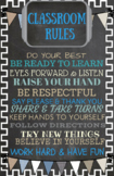 Instant Download-Classroom Poster-You Print-Classroom Rule