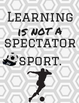 Instant Download-Classroom Poster-You Print-Soccer/Football