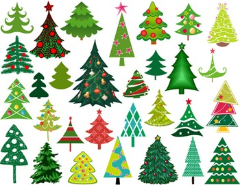 Digital Christmas Tree Clip Art Green Christmas Tree ClipArt 0371