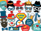 Instant Download Father's Day Photo Booth Props, Love Dad