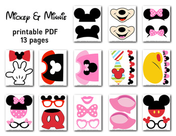 photo regarding Minnie Mouse Photo Booth Props Printable referred to as 75 Highest Well known Mickey And Minnie Photograph Booth - Freshomedaily