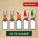 Instant Download Printable Bookmark Christmas Style, Teach