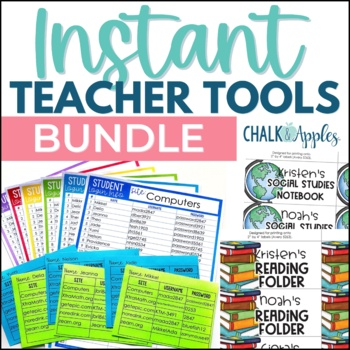 Instant Editable Teacher Timesavers Bundle