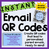 Instant Email QR Codes