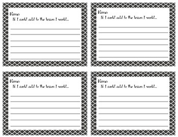 Instant Feedback! Exit Tickets to Help Guide Teaching