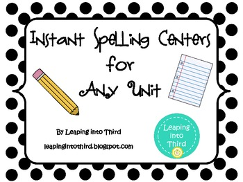 Instant Hands-On Spelling Centers