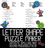 Automatic Letter Shapes Puzzle Maker