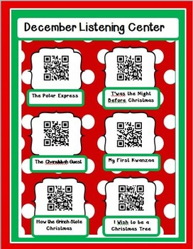 Free Instant Listening Center -QR Codes-Great for Centers!