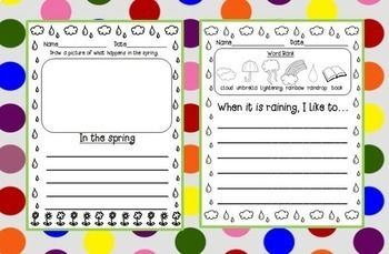 FREE Instant Listening Center-Rain Stories QR Reading and Writing Centers!