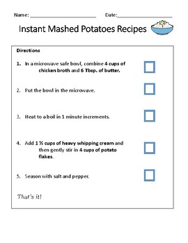 Instant Mashed Potatoes Recipe