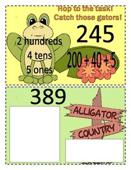 Instant Math Alligator Swamp Place Value