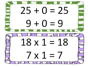 Number Properties: Instant Math Bulletin Board with BONUS worksheet