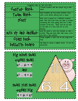 Instant Math On the Farm with Grandpa Fact Family Task Cards