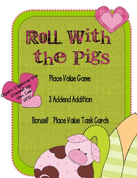 Instant Math Roll in the Mud with Pigs Place Value and 3 Addends