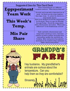Instant Math Temperature Down on Grandpa's Farm