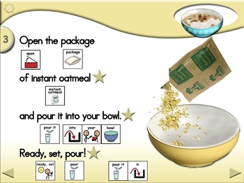 Instant Oatmeal - Animated Step-by-Step Recipe SymbolStix