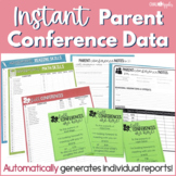 Parent Teacher Conference Forms with Instant Data (Editable)