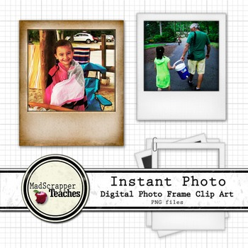 Instant Photo Digital Frames Digital Clipart Color
