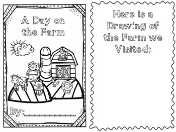 "Instant Printable ""A Day on the Farm"" Book"
