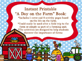 """Instant Printable """"A Day on the Farm"""" Book"""