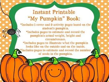"Instant Printable ""My Pumpkin"" Book"
