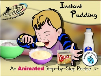 Instant Pudding - Animated Step-by-Step Recipe SymbolStix