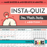 Instant Quizzes (Addition Fact Sheets)