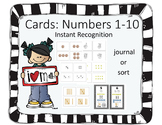 Instant Recognition Cards Numbers 1-10