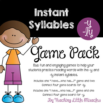 Instant Syllable -y and -ly Game Pack