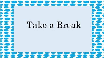 Instant Take A Break Station- Light Blue