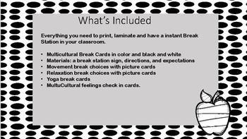 Instant Take a Break Zone- Black and white theme