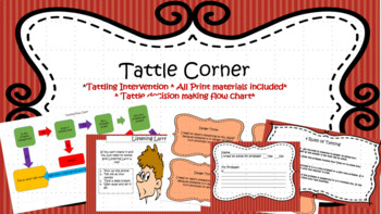 Instant Tattle Corner- Behavior Intervention for Tattling! Just print and go!