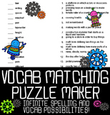 Automatic Vocabulary Matching Puzzle Maker