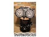 Instasticks-Black and White Polka Dots
