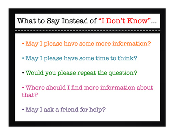 """Instead Of """"I Don't Know""""..."""