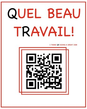 Instead of French stickers, try these QR codes/ Des codes QR pour motiver