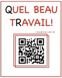 Instead of French stickers, try these QR codes/ Des codes