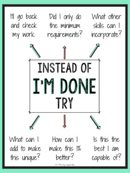 "Instead of ""I'm Done!"" Poster w/ 6 alternatives"