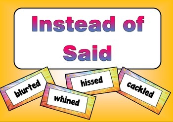 """""""Instead of Said"""":  A bulletin board to improve writing"""