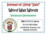 Instead of Using Said Word Wall Words