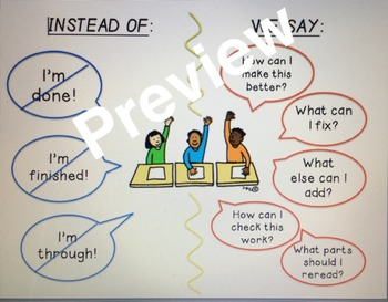 Instead of/We Say Classroom Management Poster