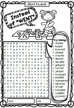 Instead of Went Word Search
